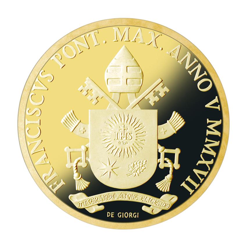 Arrivano le nuove monete in oro del vaticano sono dedicate al battesimo e san giovanni - Sterlina oro 2017 fondo specchio ...