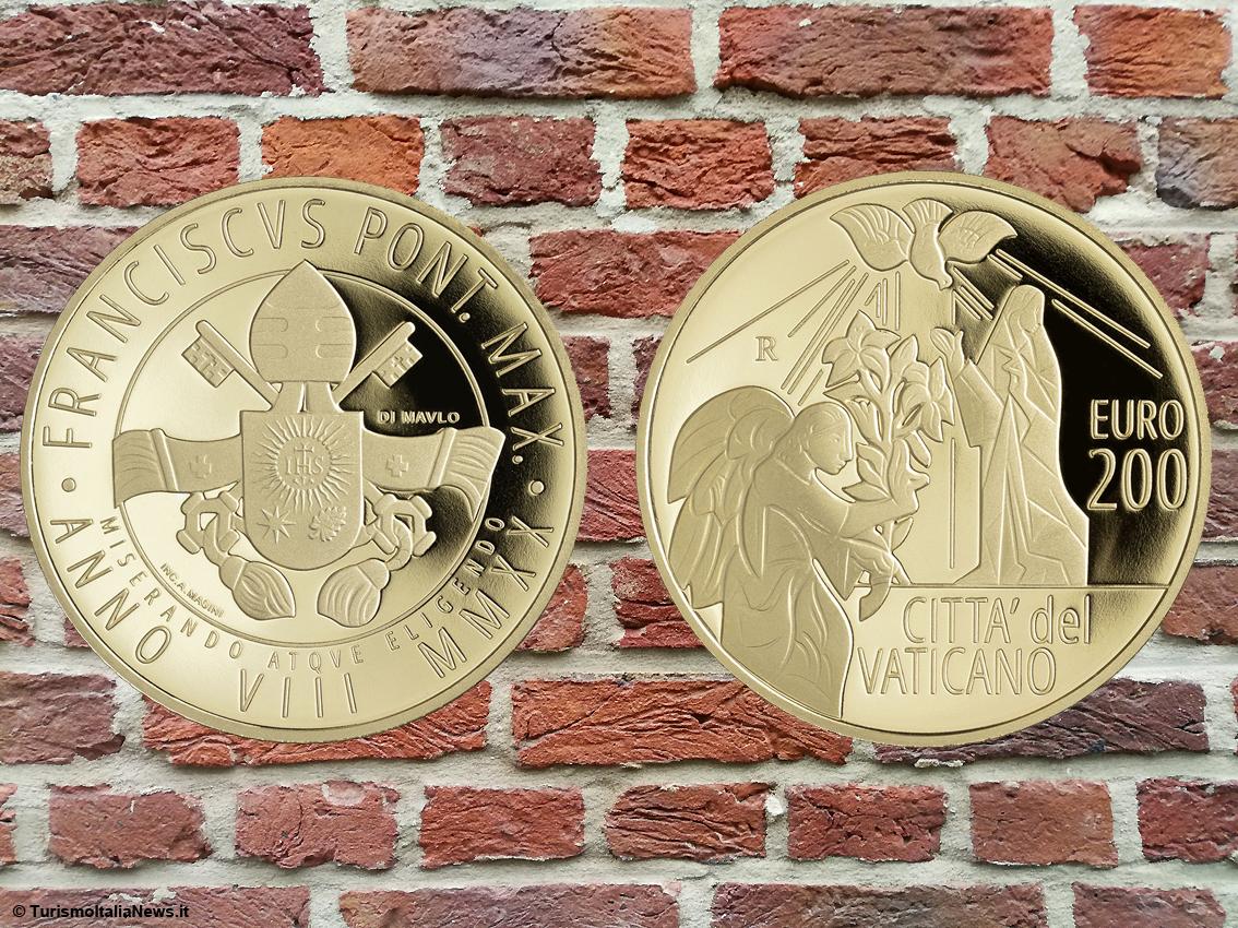Vaticano: l'Arcangelo Gabriele in versione aurea e la Pietà di Michelangelo diventa di rame, ma solo sulle monete