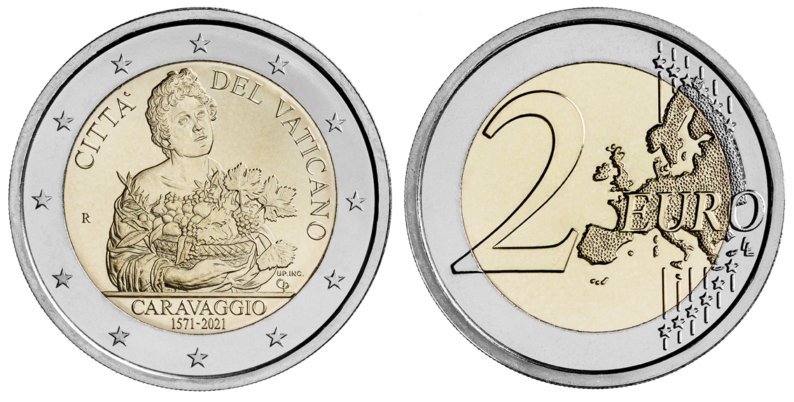 """La moneta rettangolare del Vaticano per celebrare Caravaggio: la sua  """"Deposizione"""" scelta per il 450° anniversario della nascita - Turismo  Italia News"""