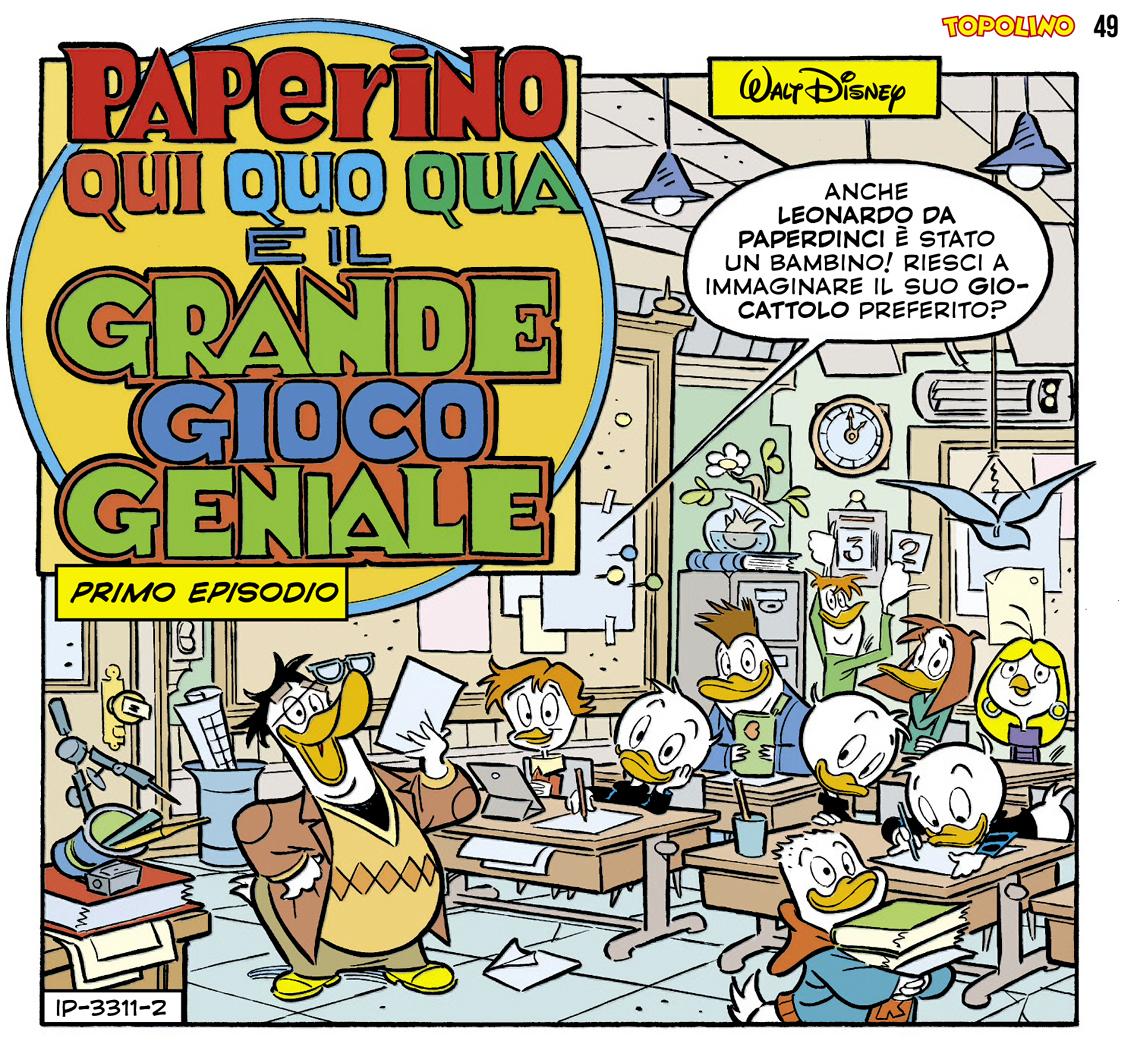 """6a57b5f11c02 EVENTI   Per Leonardo da Vinci si muove anche il settimanale """"Topolino"""": un'avvincente  storia-caccia al tesoro con Paperino"""