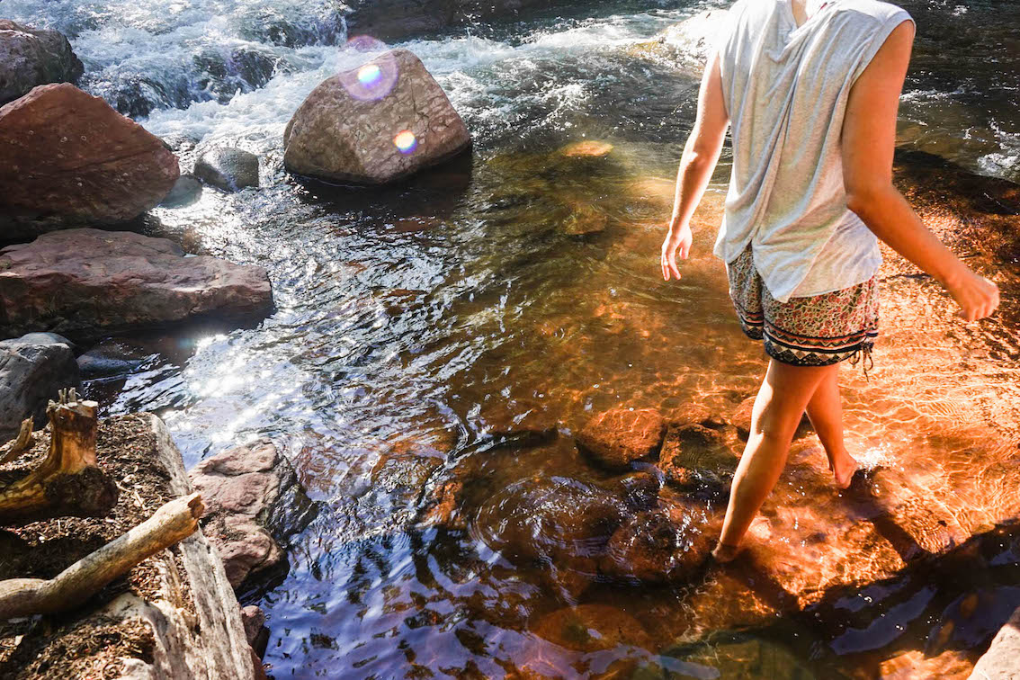 Forest bathing and meditation in Sedona, Arizona